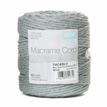 Load image into Gallery viewer, Macrame cord 87mtrs x 4mm Silver