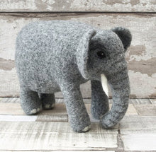 Load image into Gallery viewer, Jasmine the Elephant  Knit2Felt kit
