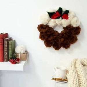 Christmas Pudding Wreath DIY