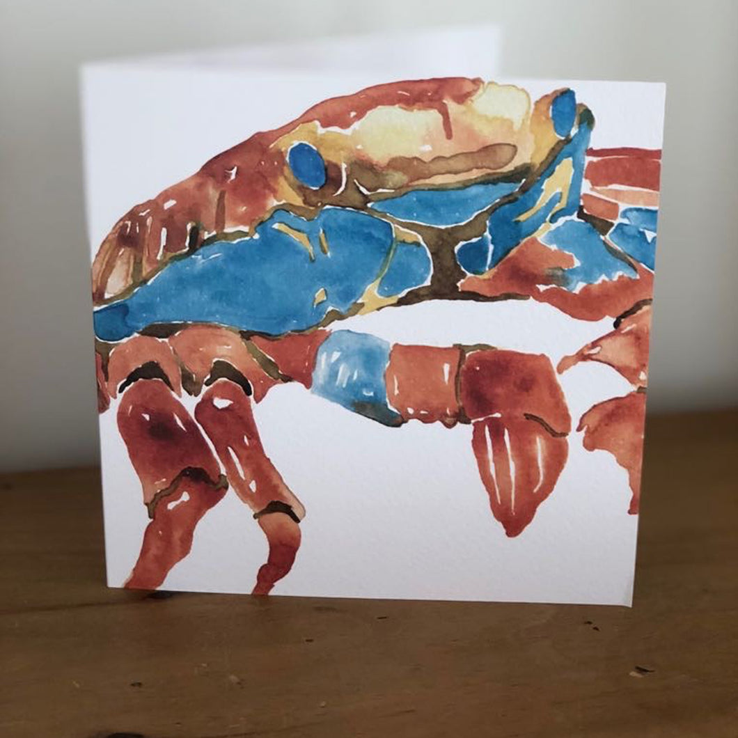 Crab Design Greeting Card