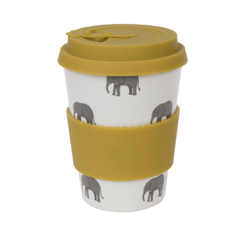 Elephant Design - Bamboo Travel Cup