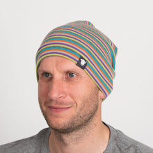 Load image into Gallery viewer, Beanie stripe multi coloured hat