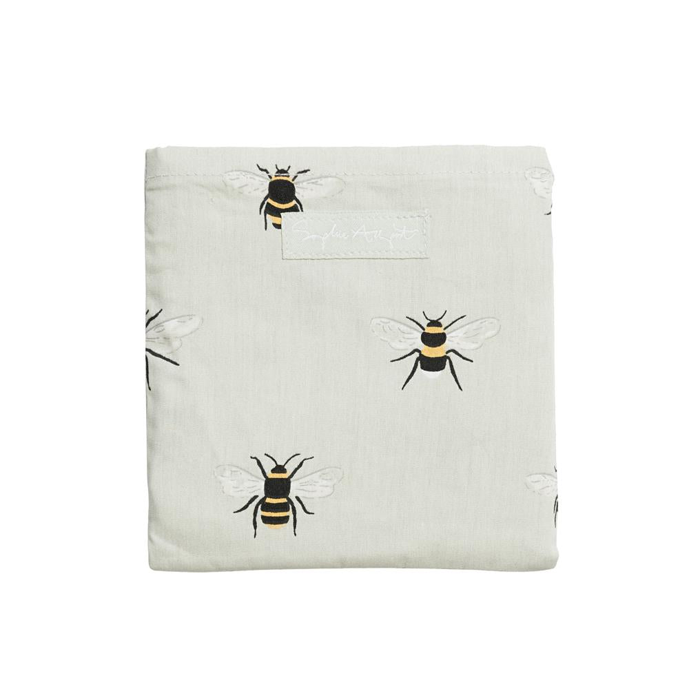 Bee pattern folding shopping bag