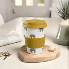 Load image into Gallery viewer, Elephant Design - Bamboo Travel Cup