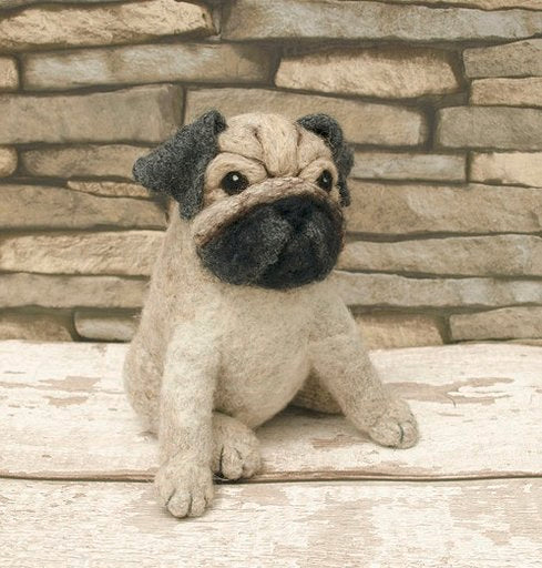 Pugsley the Pug  Knit2Felt kit