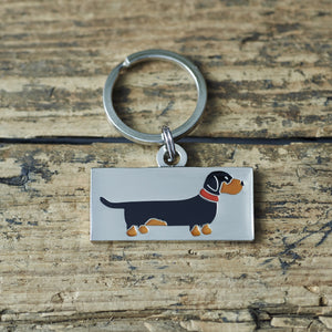 Dachshund- dog tag or key ring