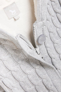 Grey lined Knitted Pramsuit