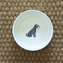 Load image into Gallery viewer, Grey Schnauzer Dog Bowl Large