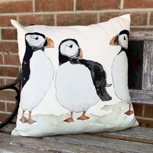 Puffin Design Cushion