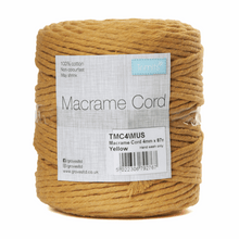 Load image into Gallery viewer, Macrame cord 87mtrs x 4mm Mustard