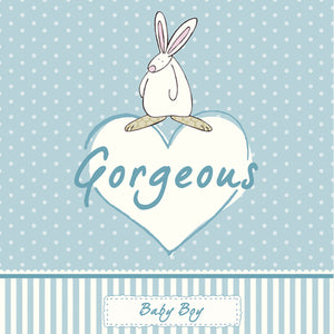 Gorgeous- Blue New Baby card