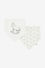 Load image into Gallery viewer, Two soft jersey bibs - white