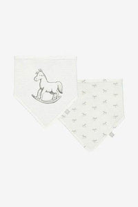 Two soft jersey bibs - white