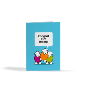 Congrat -ewe-lations -Herdy card