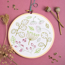 Load image into Gallery viewer, Contemporary Embroidery Kit - Seedhead Spray
