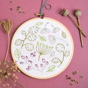 Contemporary Embroidery Kit - Seedhead Spray