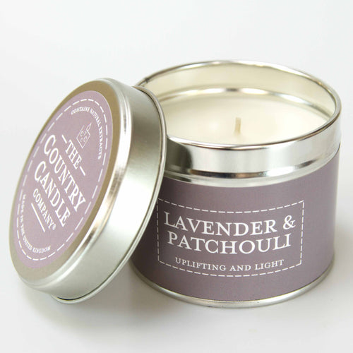 Lavender & Patchouli Tin Candle