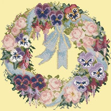 Load image into Gallery viewer, Garland of Pansies Tapestry by Elizabeth Bradley