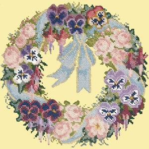 Garland of Pansies Tapestry by Elizabeth Bradley