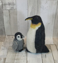 Load image into Gallery viewer, Holly and Star Penguin Knit2Felt kit