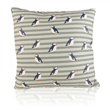Load image into Gallery viewer, Puffin Square RSPB cushion