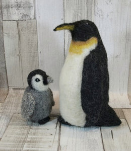 Holly and Star Penguin Knit2Felt kit