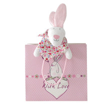 Load image into Gallery viewer, Rufus Rabbit Baby girl comforter