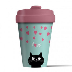 Kitty Love - Bamboo Travel Cup