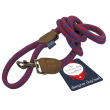 Load image into Gallery viewer, Quality  Large Red & Blue Dog Lead by The Little dog Laughed Co