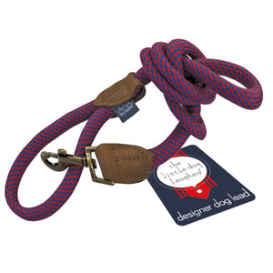 Quality  Large Red & Blue Dog Lead by The Little dog Laughed Co