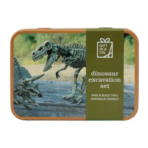 Dinosaur in a tin