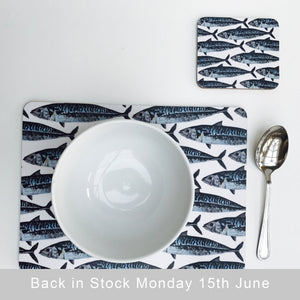 Mackerel Design Placemats - single