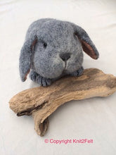 Load image into Gallery viewer, Blossom the Bunny Knit2Felt kit