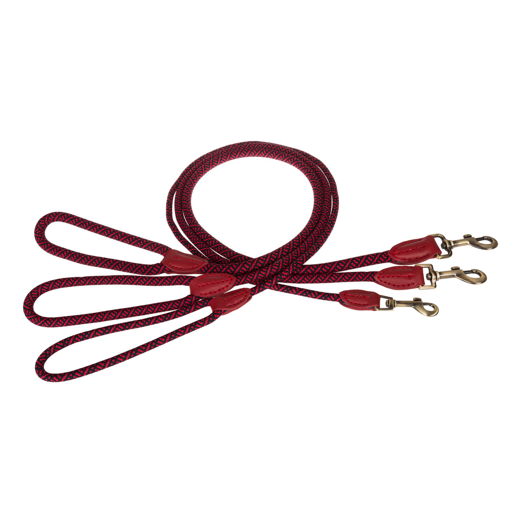 Quality Rope Dog Lead in  Red designed by Sophie allport
