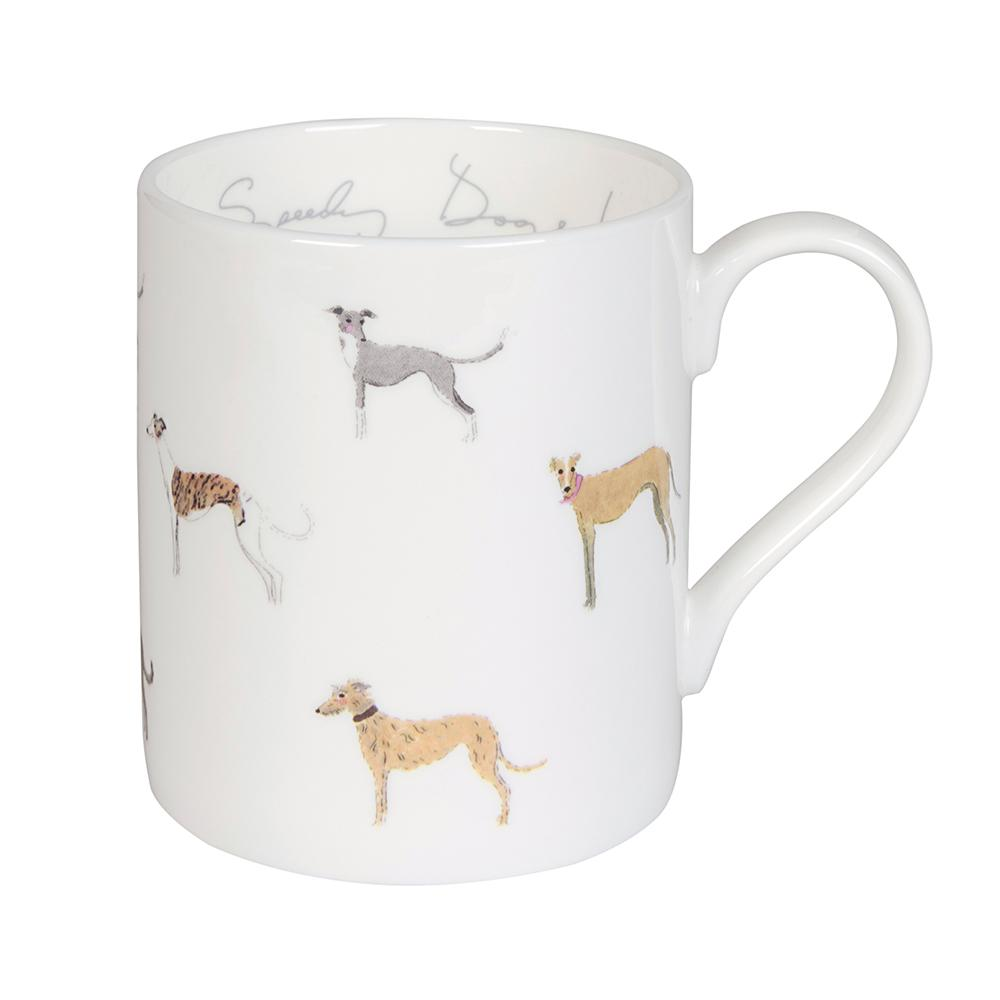 Speedy dogs china mug