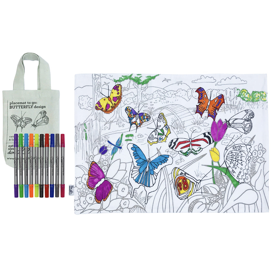 Colour & Learn Butterfly Placemat