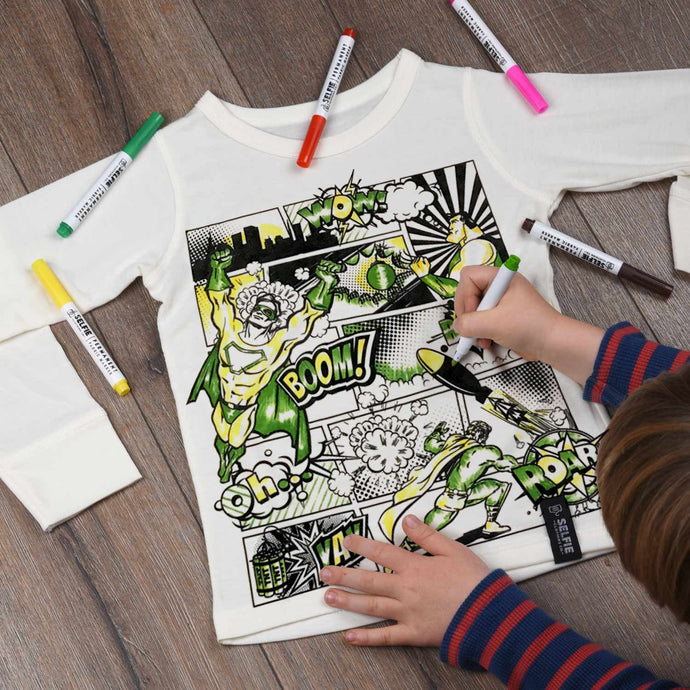 Superhero colour your own t-shirt