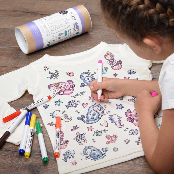 Mermaid colour your own t-shirt