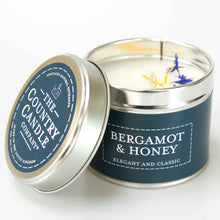 Load image into Gallery viewer, Bergamot and honey Tin Candle