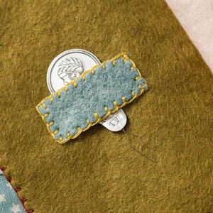 Needle Case Embroidery  Felt Kit