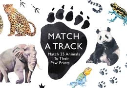 Match an Animal Track Memory Game