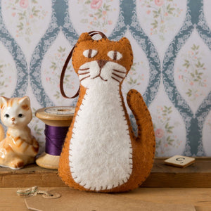 Mini Ginger Cat Felt Kit