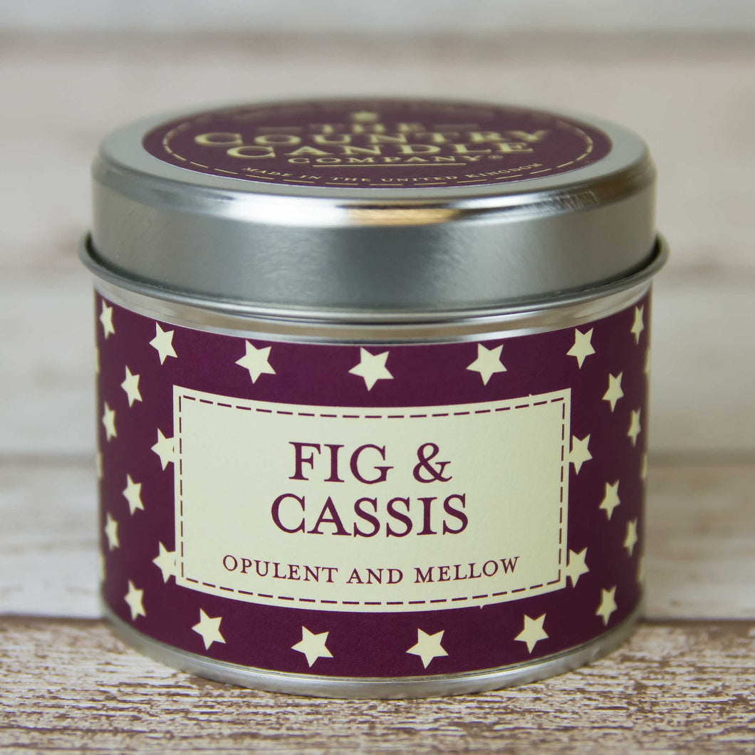 Fig and Cassis Polkadot Tin Candle