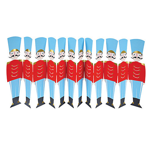 Nutcracker Soldiers Fold Out Card