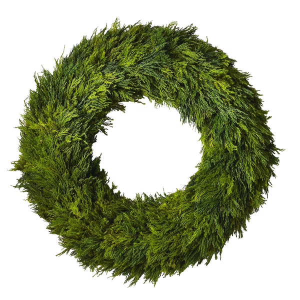 AD Cypress Wreath 23.5'