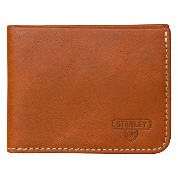 Tan Leather Money Clip and Wallet