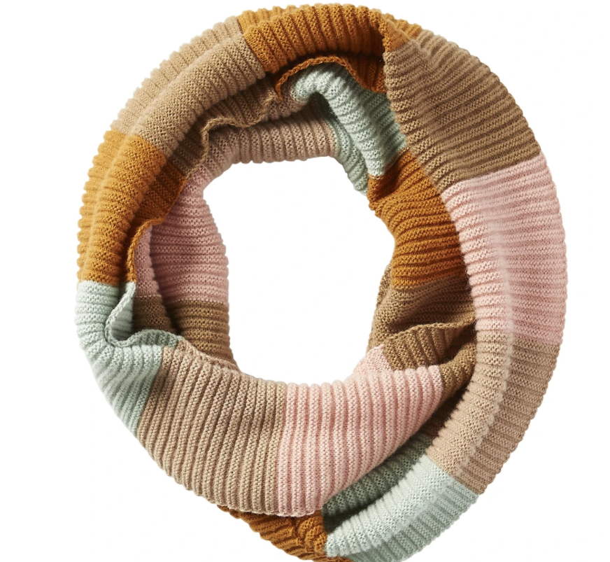 Tickled Pink Pastel Stripe Infinity Scarf