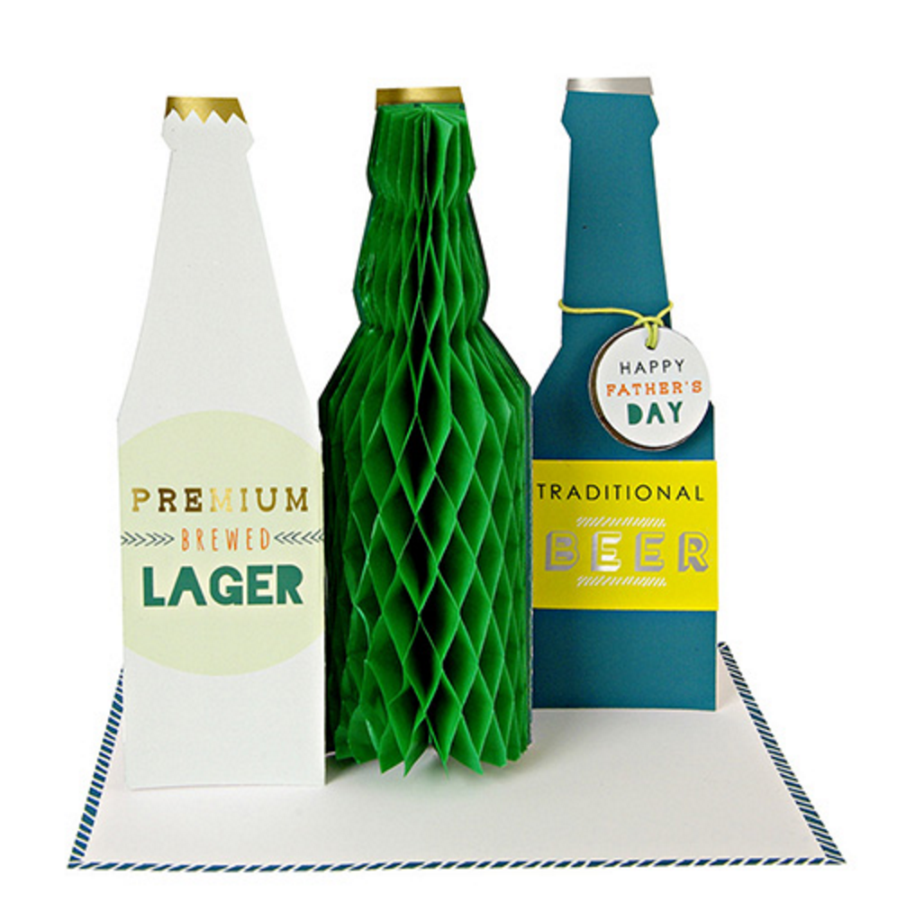 Beer Bottles Father's Day Card