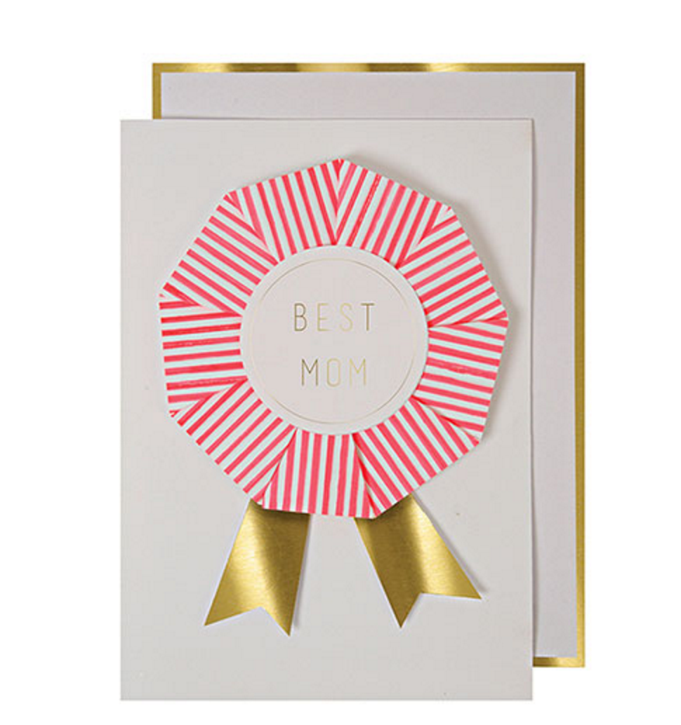 Best Mom Rosette Card
