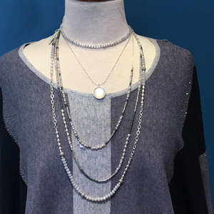 Meghan Browne Elsa Silver Necklace